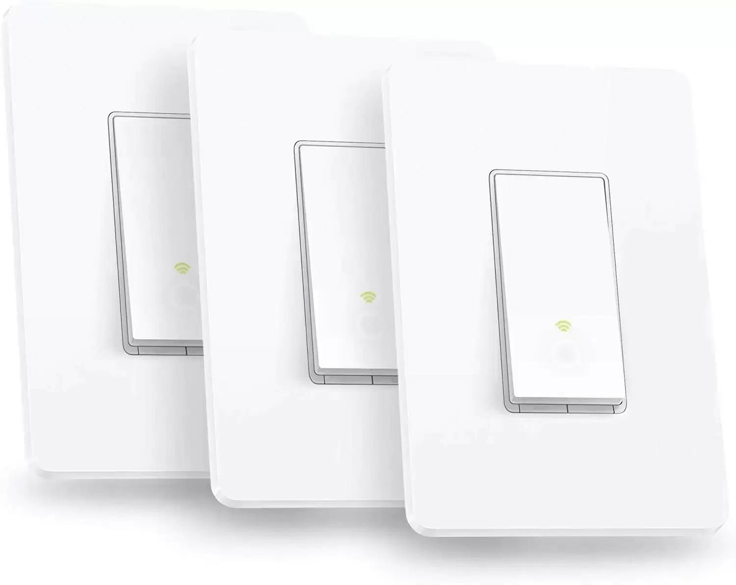 3 TP-Link Kasa Smart HS200P3 WiFi In-Wall Lighting Switch for $34.99 Shipped