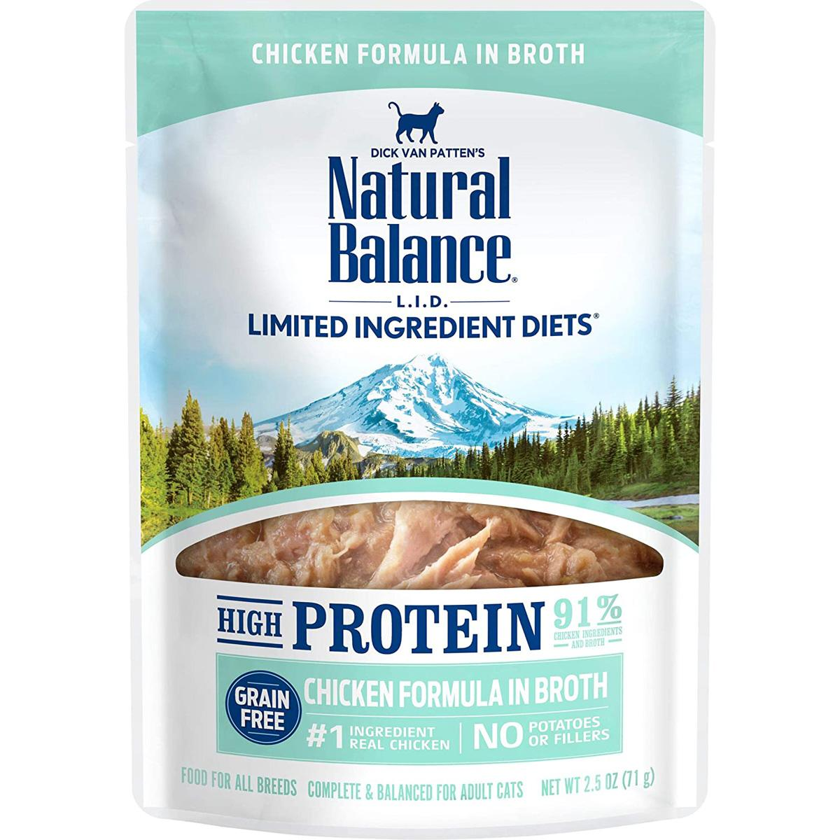 24 Natural Balance LID High Protein Wet Cat Food for $18.49