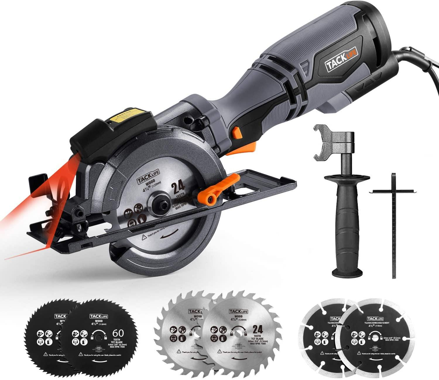 Tacklife Circular Saw with Metal Handle for $55.97 Shipped