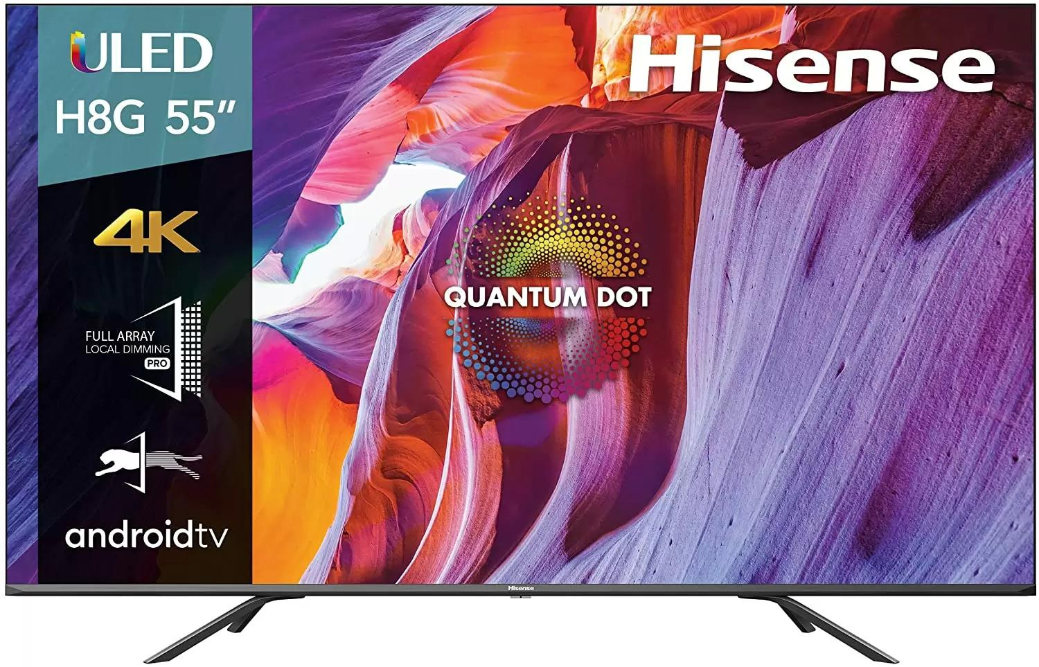 55in Hisense 55H8G Quantum Series 4K ULED Android Smart LED TV for $479.99 Shipped