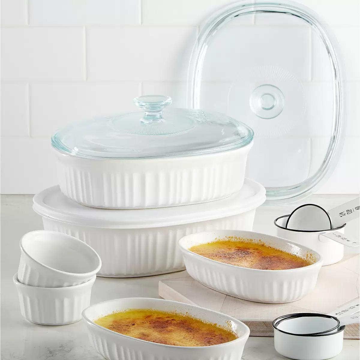 10-Piece Corningware French White Bakeware Set for $29.99 Shipped