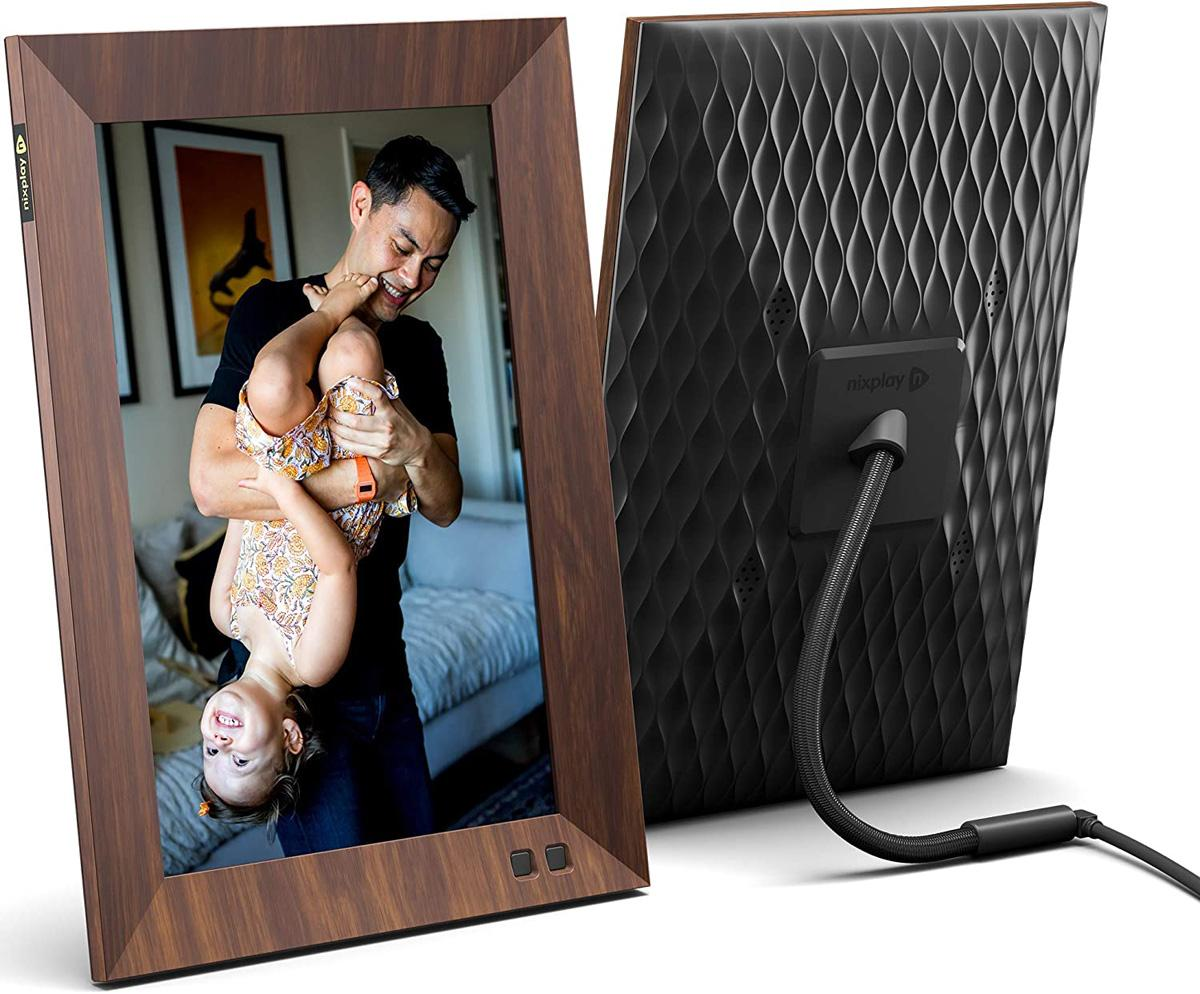 Nixplay 10.1in Smart Digital Picture Frame Wood Effect for $142.49 Shipped